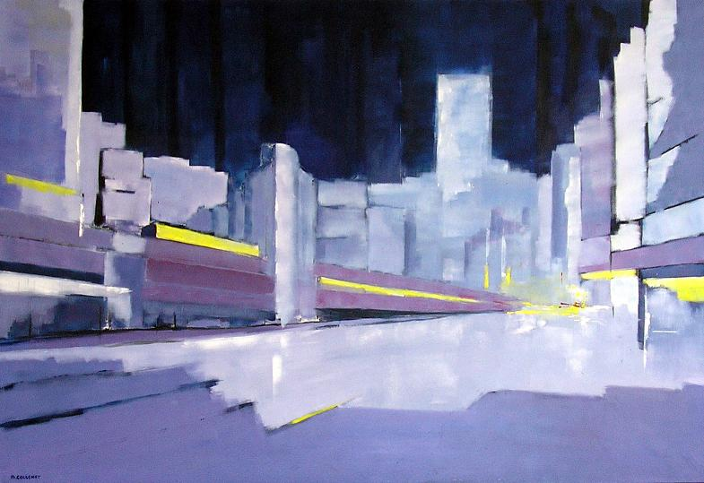 Image de ville, peinture de New-York